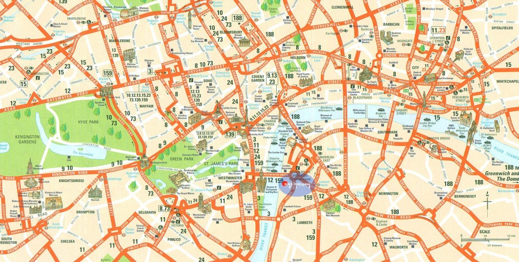 Large London Maps For Free Download And Print   High-Resolution And - London Street Map Printable