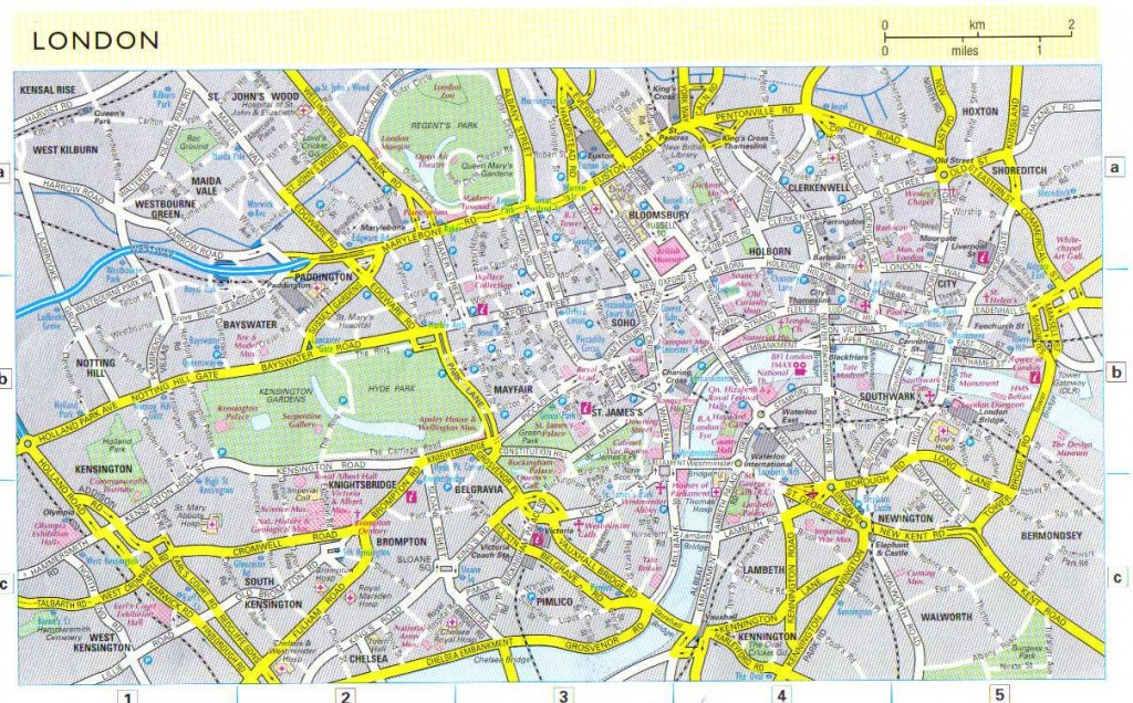 Large London Maps For Free Download And Print | High-Resolution And - Printable Map Of London England