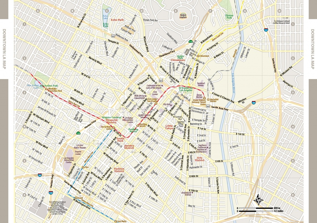 Large Los Angeles Maps For Free Download And Print | High-Resolution - Los Angeles Tourist Map Printable