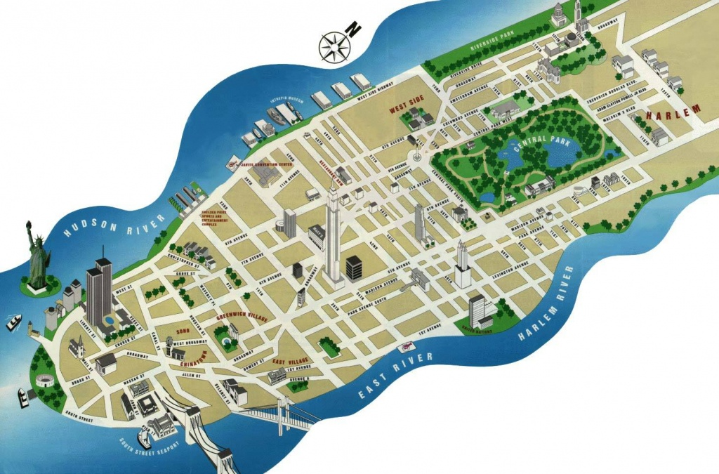 Large Manhattan Maps For Free Download And Print | High-Resolution - Printable Map Of Manhattan