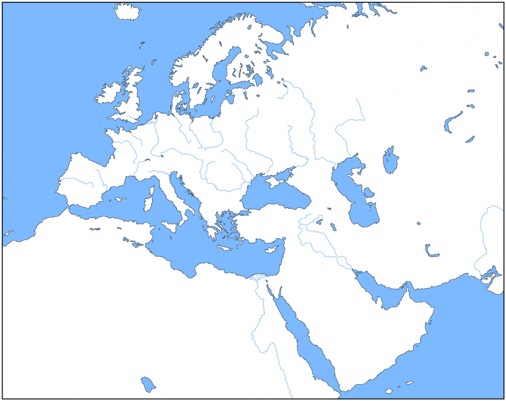 Large Map Of Europe Printable Reference Blank Countries Full Hd Maps - Large Map Of Europe Printable