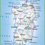 Large Map Of Sardinia   Printable Map Of Sardinia