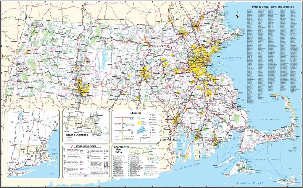 Large Massachusetts Maps For Free Download And Print | High - Printable Map Of New England