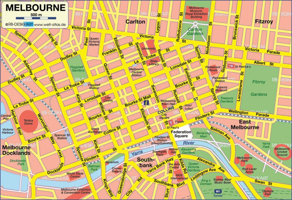 Large Melbourne Maps For Free Download And Print | High-Resolution - Melbourne Cbd Map Printable