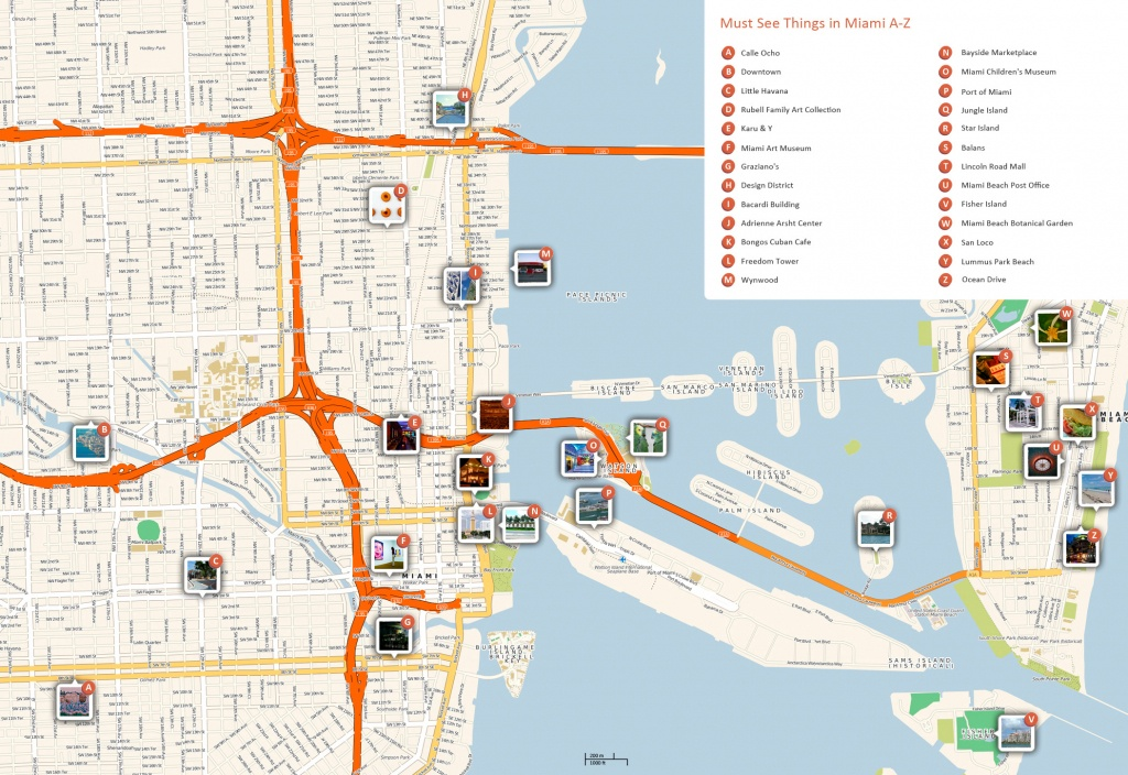 Large Miami Maps For Free Download And Print | High-Resolution And - Miami City Map Printable