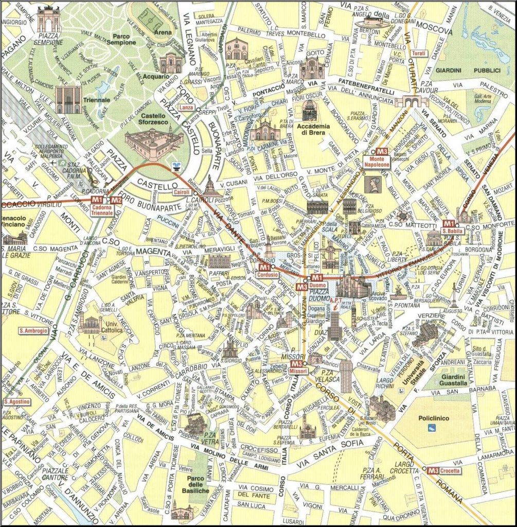 Large Milan Maps For Free Download And Print | High-Resolution And - Printable Map Of Milan