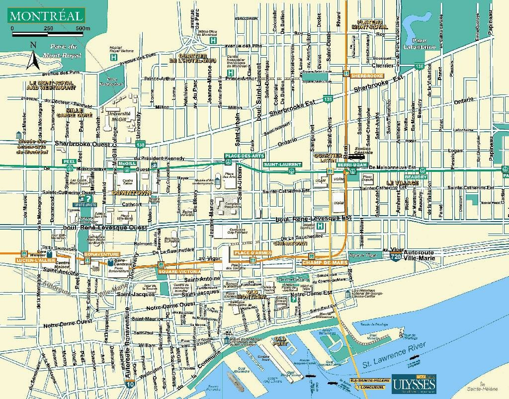 Large Montreal Maps For Free Download And Print   High-Resolution - Montreal Metro Map Printable