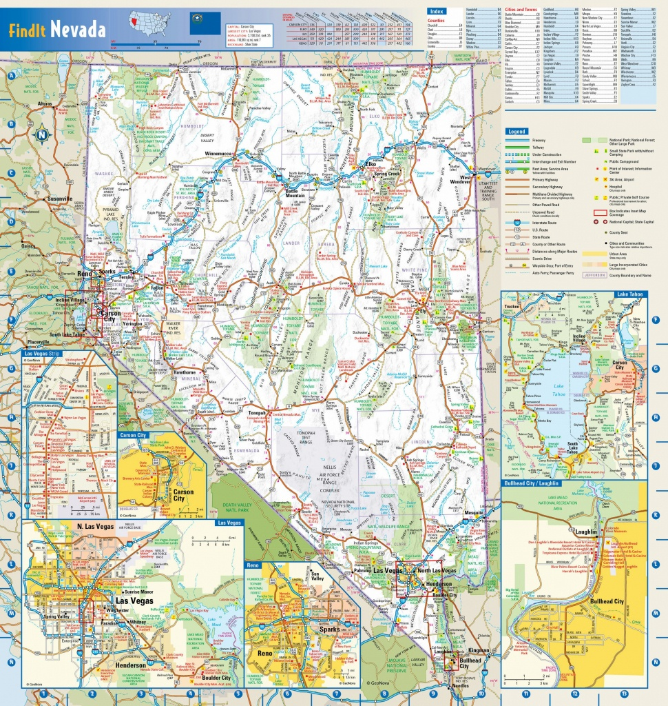 Large Nevada Maps For Free Download And Print   High-Resolution And - Road Map Of California Nevada And Arizona