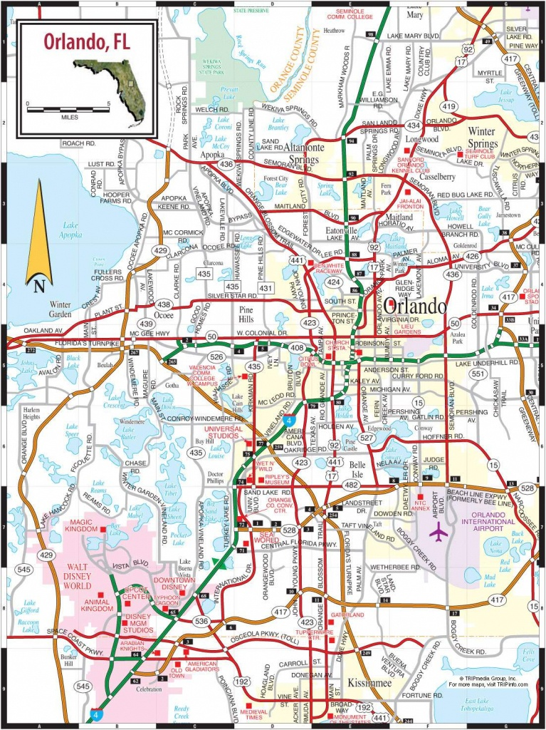 Large Orlando Maps For Free Download And Print   High-Resolution And - Road Map To Orlando Florida