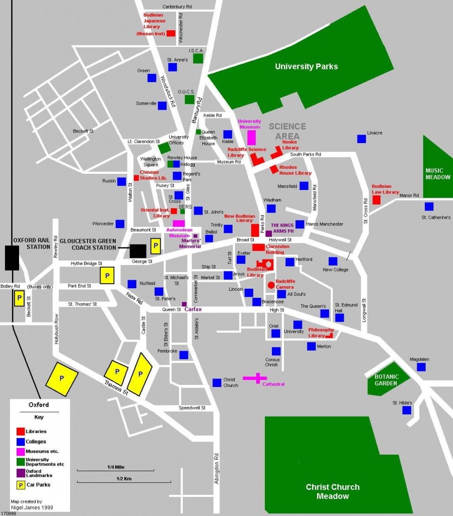 Large Oxford Maps For Free Download And Print | High-Resolution And - Oxford Tourist Map Printable