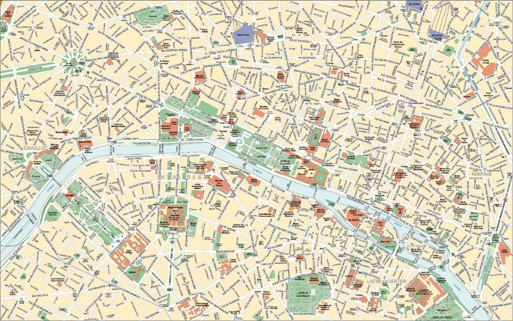Large Paris Maps For Free Download And Print | High-Resolution And - Paris Tourist Map Printable