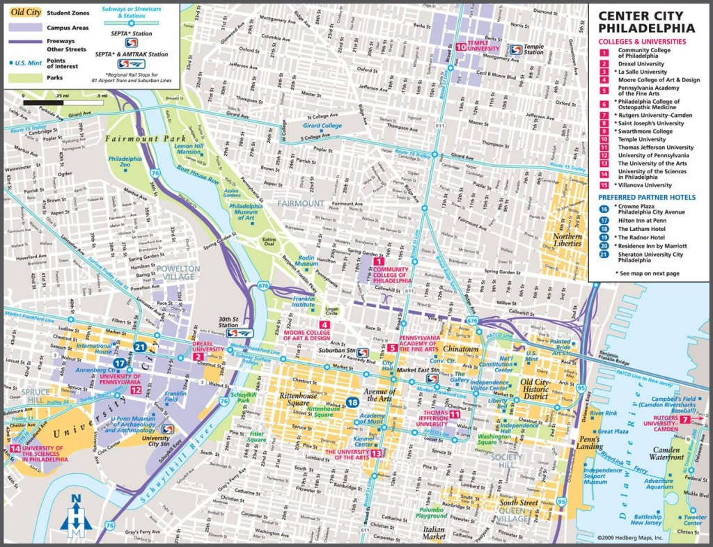 Large Philadelphia Maps For Free Download And Print   High - Map Of Old City Philadelphia Printable