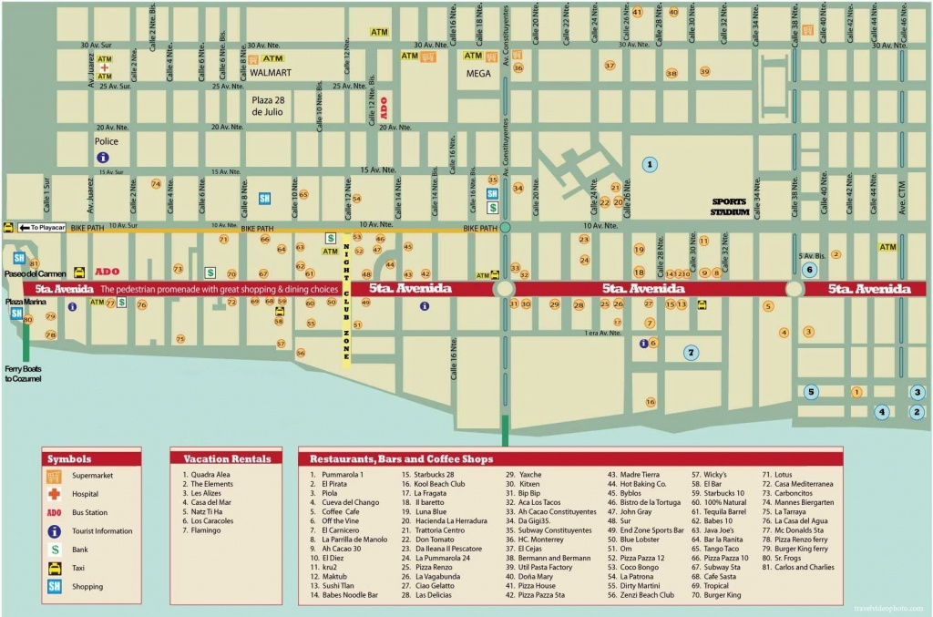 Large Playa Del Carmen Maps For Free Download And Print   High - Printable Map Of Playa Del Carmen