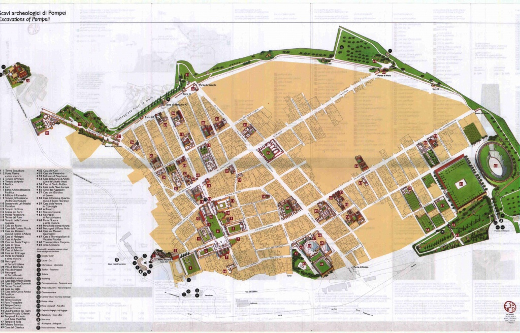 Large Pompei Maps For Free Download | High-Resolution And Detailed - Printable Map Of Pompeii