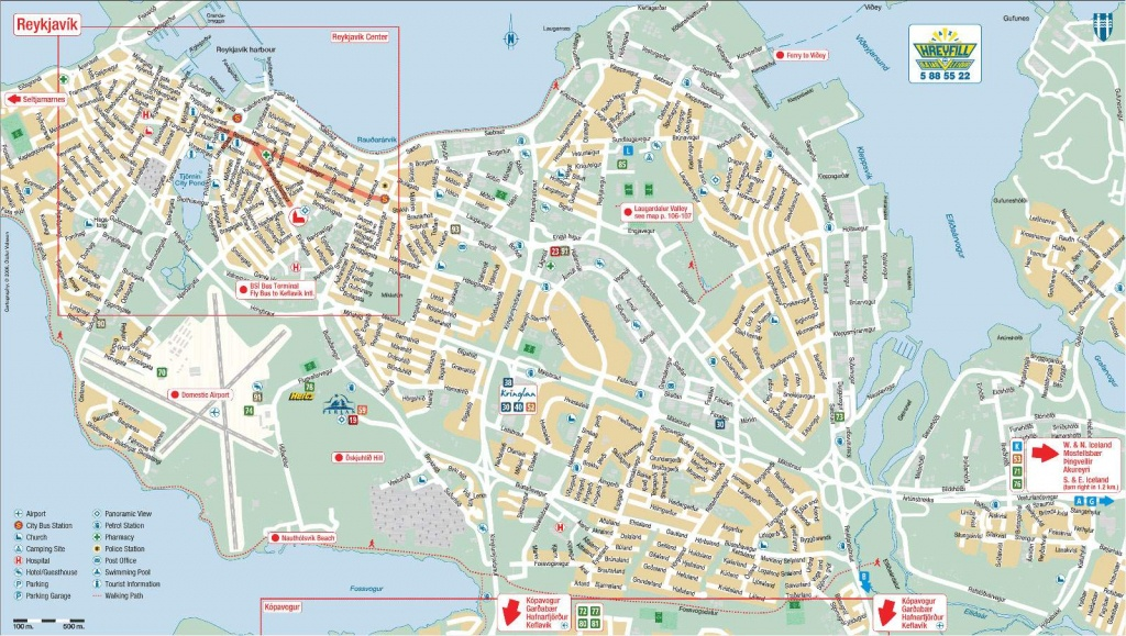 Large Reykjavik Maps For Free Download And Print | High-Resolution - Printable Local Maps