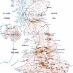 Large Road Map Of The United Kingdom Of Great Britain And Northern   Printable Road Maps Uk