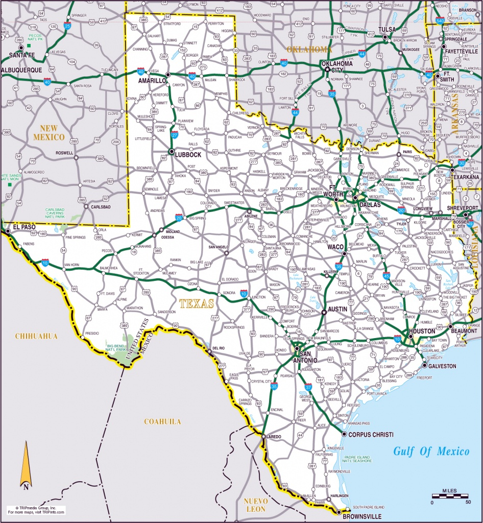 Large Roads And Highways Map Of The State Of Texas | Vidiani - Large Texas Map