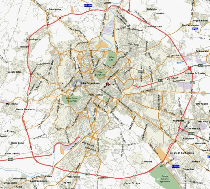Printable Map Of Rome