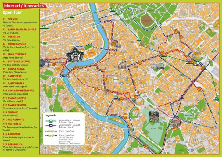 Printable Map Of Rome Tourist Attractions