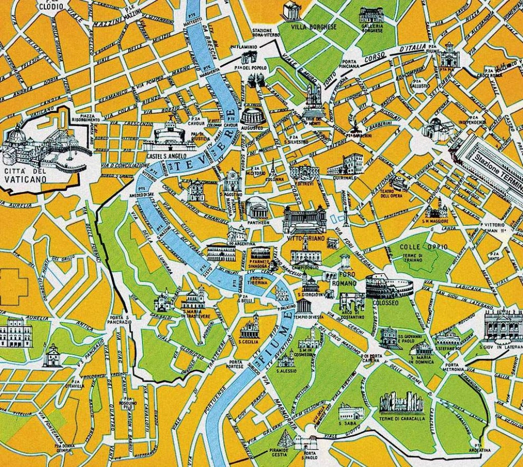 Large Rome Maps For Free Download And Print | High-Resolution And - Rome Tourist Map Printable