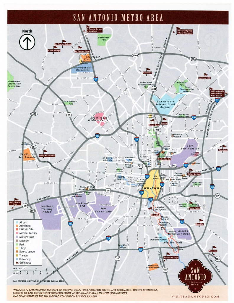 Large San Antonio Maps For Free Download And Print   High-Resolution - Texas Sightseeing Map