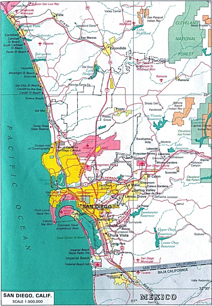 Large San Diego Maps For Free Download And Print | High-Resolution - Printable Map Of San Diego