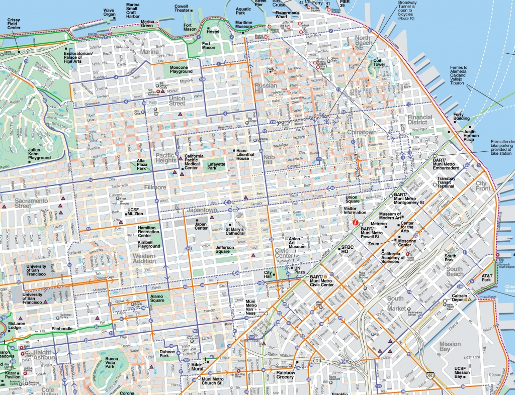 Large San Francisco Maps For Free Download And Print   High - San Francisco Tourist Map Printable