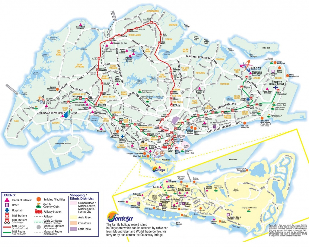 Large Singapore City Maps For Free Download And Print | High - Melaka Tourist Map Printable