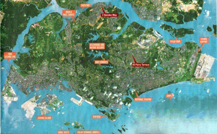 Printable Map Of Singapore