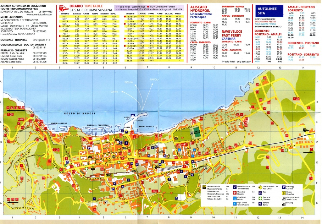 Large Sorrento Maps For Free Download And Print | High-Resolution - Printable Street Map Of Sorrento Italy