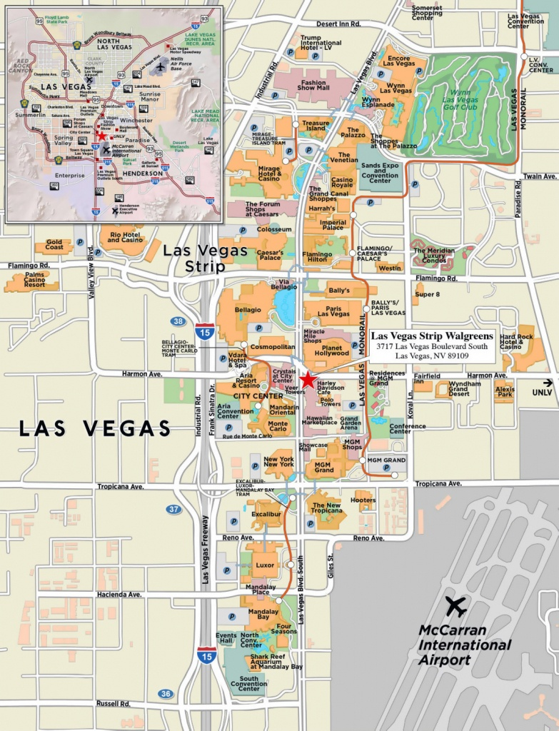 Large Strip Map Of Las Vegas City. Las Vegas Large Strip Map - Map Of Las Vegas Strip 2014 Printable