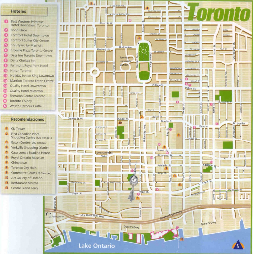 Large Toronto Maps For Free Download And Print | High-Resolution And - Printable Map Of Downtown Toronto