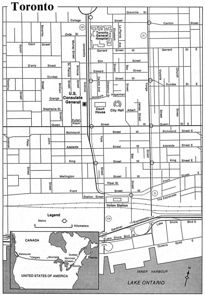 Large Toronto Maps For Free Download And Print   High-Resolution And - Printable Map Of Downtown Toronto