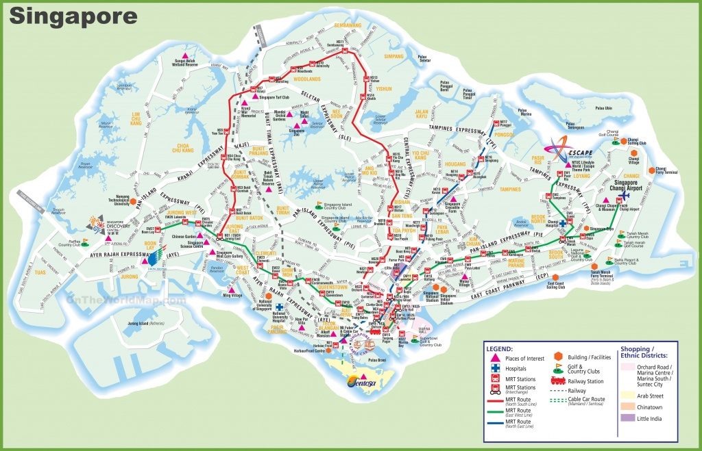 Large Transport Map Of Singapore - Printable Map Of Singapore