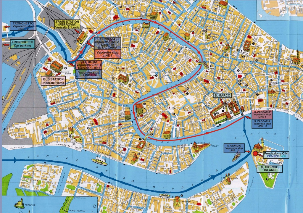 Large Venice Maps For Free Download And Print | High-Resolution And - Printable Tourist Map Of Venice Italy