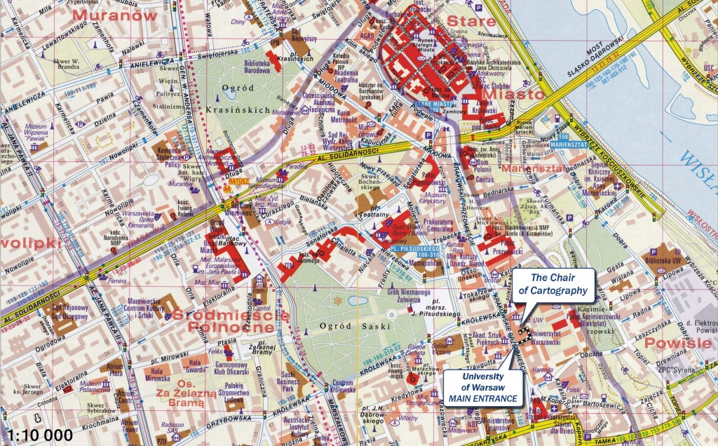 Large Warsaw Maps For Free Download And Print | High-Resolution And - Warsaw Tourist Map Printable
