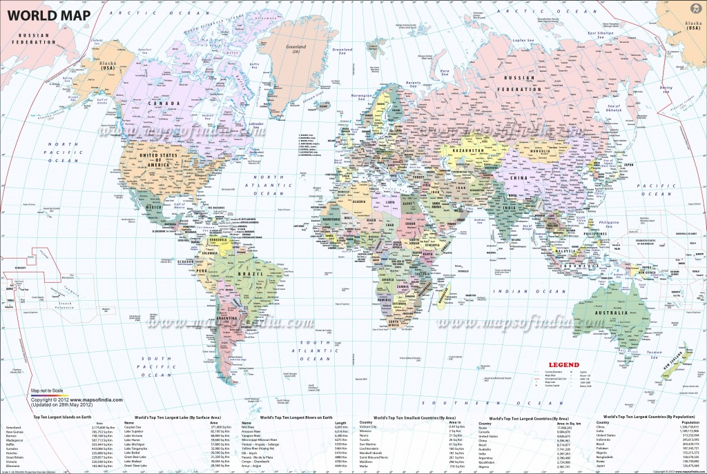 Large World Map Image - World Map With Cities Printable