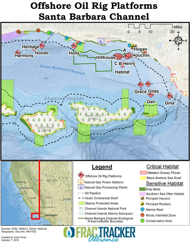Largest Coastal Spill In 25 Years [In California] - Fractracker Alliance - Texas Oil Rig Fishing Map