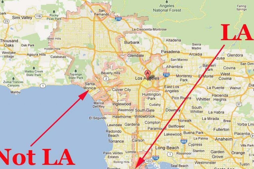 La's Confusing Borders: Now In Google Maps – Curbed La Regarding Los - Los Angeles Zip Code Map Printable