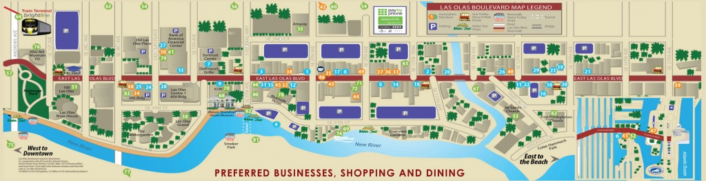 Las Olas Map & Directory | Best Restaurants, Shops & Things To Do - Map Of Hotels In Fort Lauderdale Florida