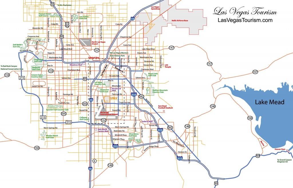 Las Vegas Map, Official Site - Las Vegas City Map - Las Vegas Printable Map
