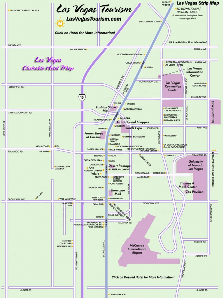 Las Vegas Map, Official Site - Las Vegas Strip Map - Printable Map Of Vegas Strip