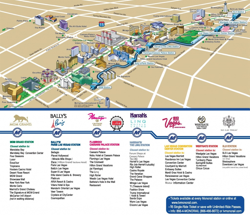 Las Vegas Strip Hotels And Casinos Map - Printable Vegas Strip Map
