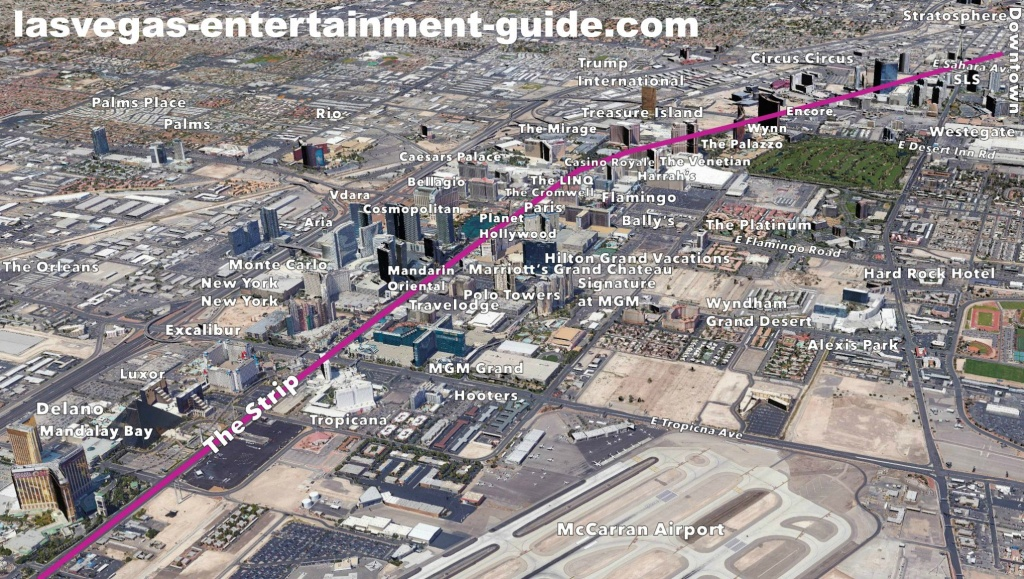Las Vegas Strip Hotels Map - Map Of Las Vegas Strip Hotels Printable