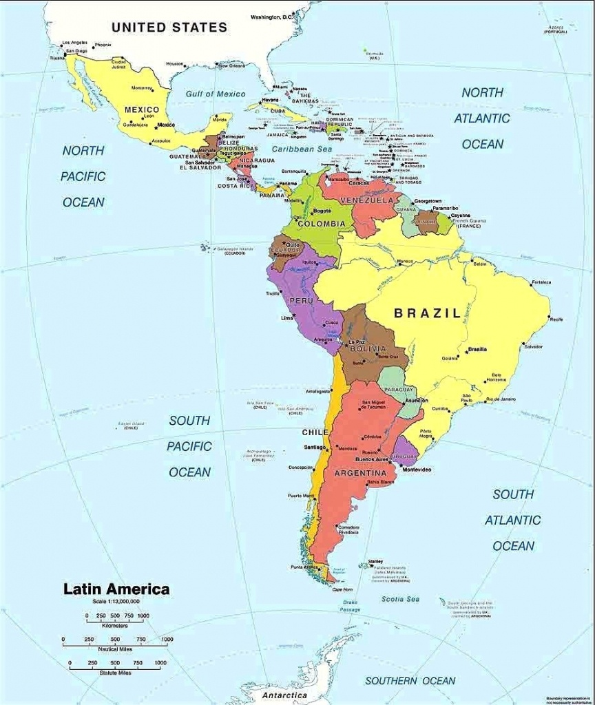 Latin America Map Printable Spanish Speaking Countries And Their - Printable Map Of Spanish Speaking Countries