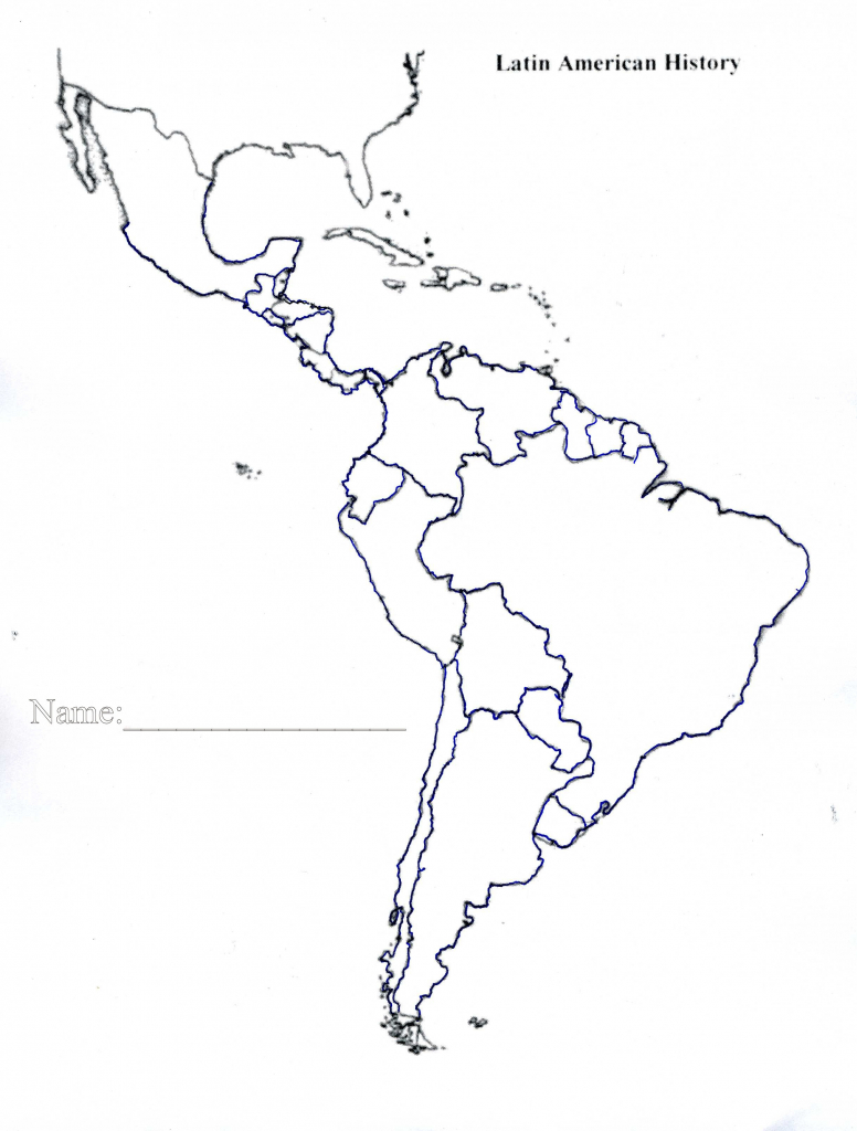 Latin America Map Quiz Printable Blank Of Us And South Central 7 - Printable Map Of Central And South America
