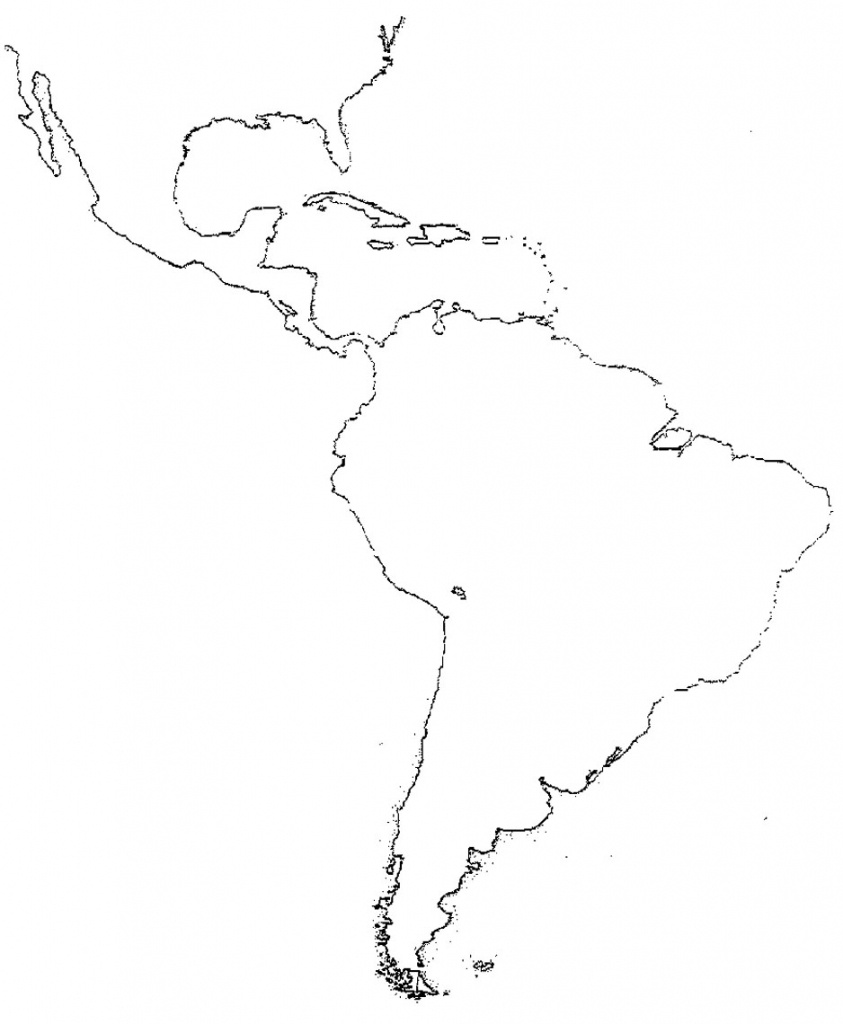 Latin America Map Study Central America Study Map Blank Map Sheet - Printable Map Of Central America