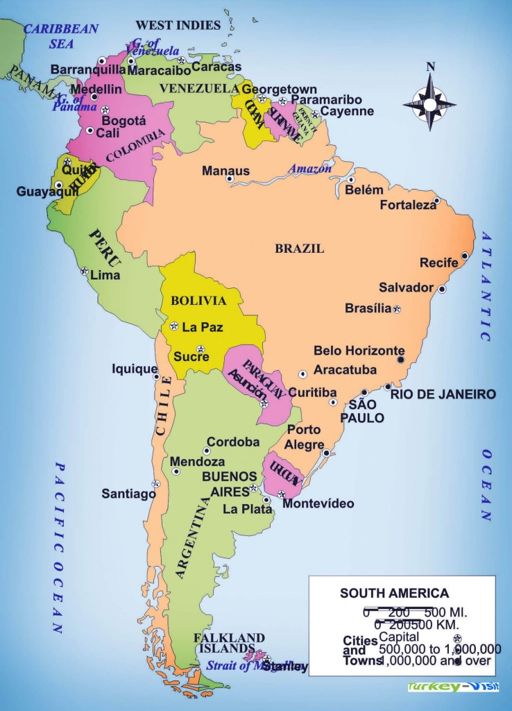 Latin America Map Study Latin America City Map - Printable Map Of South America With Countries