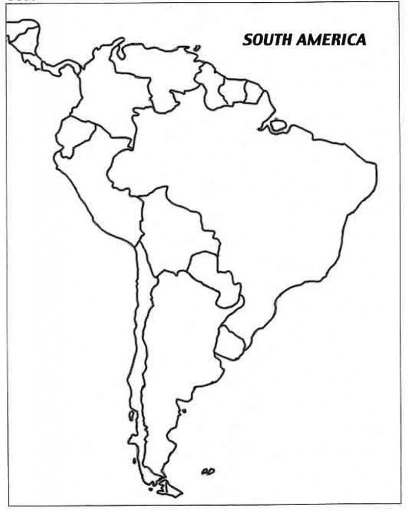 Latin America Printable Blank Map South Brazil Maps Of Within And - Printable Blank Map Of South America