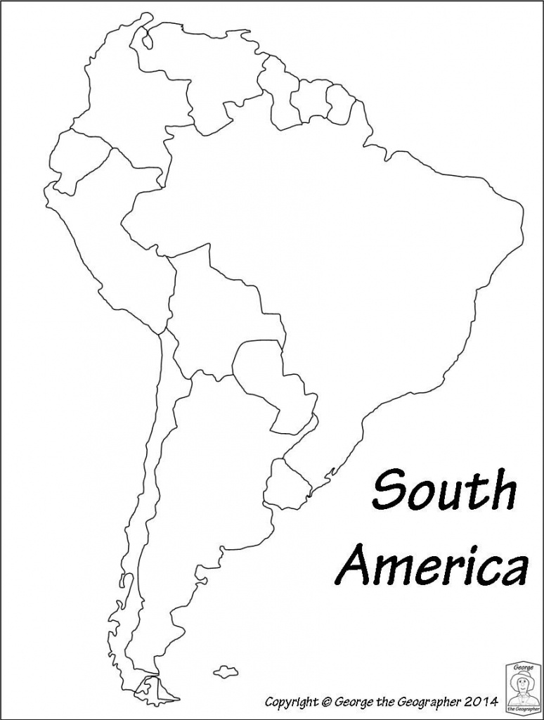 Latin America Printable Blank Map South Brazil Maps Of Within And - Printable Map Of South America
